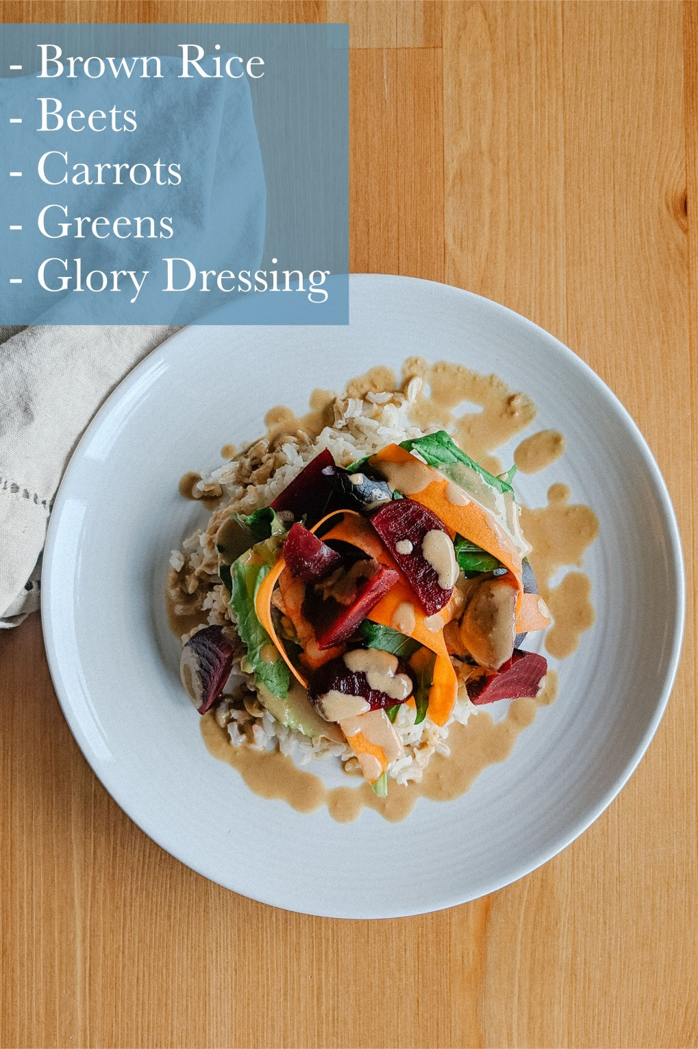 Winter Grain Salad with Glory Dressing - YUM!