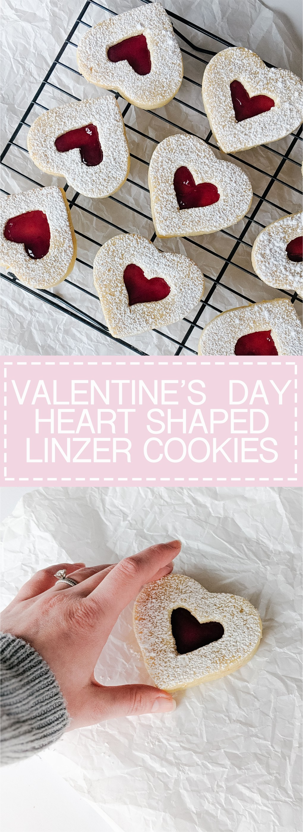 Lemon Raspberry Linzer Cookies - Valentine's Day Treats, yummy!