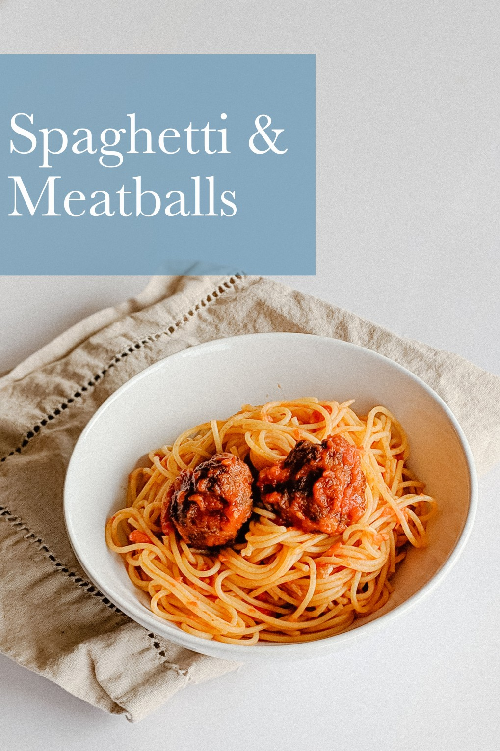 Spaghetti and Meatballs - Yum! Classic comfort food!