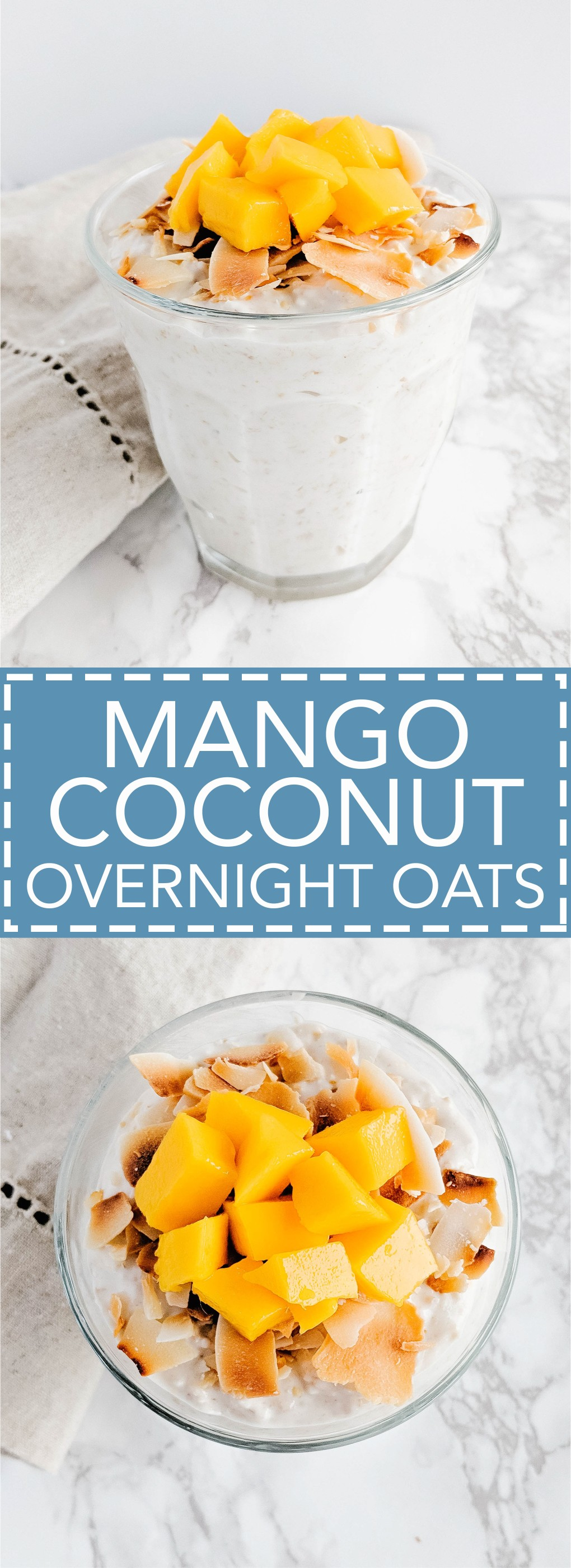 Healthy Mango Coconut Overnight Oats - Yum!